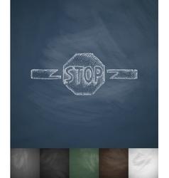 STOP icon Hand drawn vector