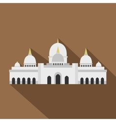 Taj Mahal icon flat style vector