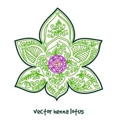 Tattoo henna lotus vector
