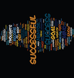 The keys to success text background word cloud vector