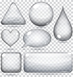 Transparent glass shapes vector image