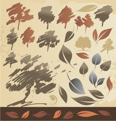 Tree and leaf vector