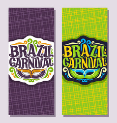 Vertical banners for brazil carnival vector