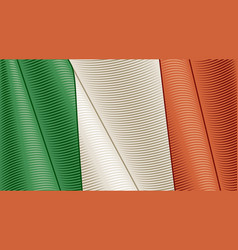 Vintage flag italy close-up background vector
