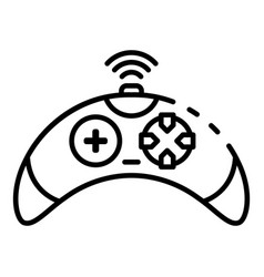 wireless video game controller icon outline style vector image