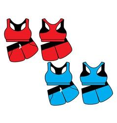 Womens sport underwear Bra and shorts vector