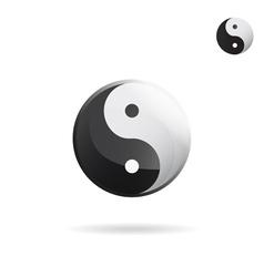 Ying and yang sign vector