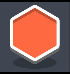 3d flat blank hexagon web internet button vector image vector image
