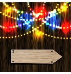 A board with a pointer Nailed pointer Reflection vector image vector image