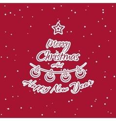 Christmas Sticker Fir vector image