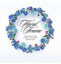 Floral wreath with spring flowers vector image