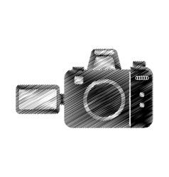 hand draw photographic camera digital vector image