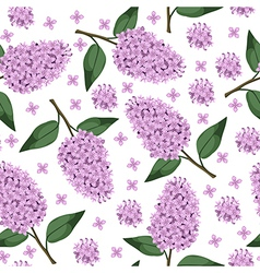 lilac pattern vector image vector image
