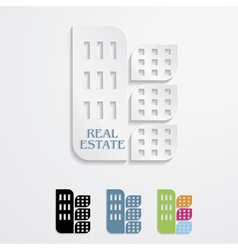 Modern icons for Real estate business design vector image vector image