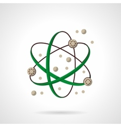 Physics symbol flat color design icon vector image