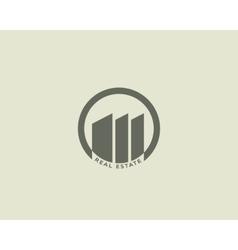House building logo design Construction realty vector image vector image