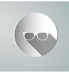 icon paper glasses vector image vector image