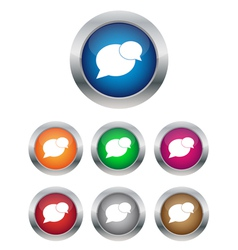 conversation buttons vector image vector image