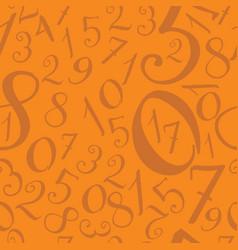 pattern of modern hand written numerals vector image