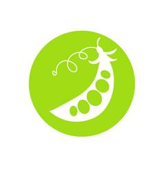 peas green cartoon vector image