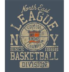 Basketball college league vector image