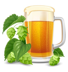 beer and hops vector image vector image