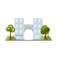 Buildings design vector image