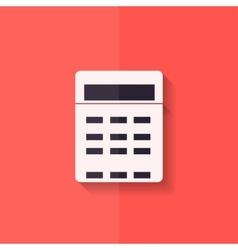 Calculator web icon Flat design vector image