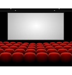 Cinema auditorium with blank screen vector