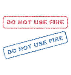 do not use fire textile stamps vector image vector image