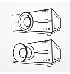 Projector line set vector image