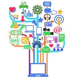 social media network background vector image