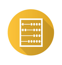 Abacus flat design long shadow icon vector