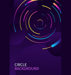 Abstract background with circle line on dark vector