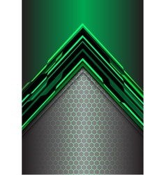 abstract green arrow light digital metallic vector image