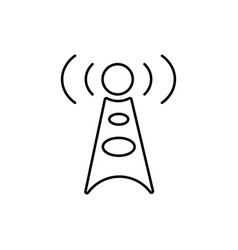 Antenna communication technology cell tower icon vector