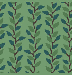 artistic seamless pattern with abstract leaves vector image