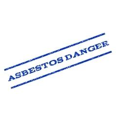 Asbestos Danger Watermark Stamp vector image