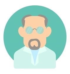 Avatar man doctor icon flat style vector image