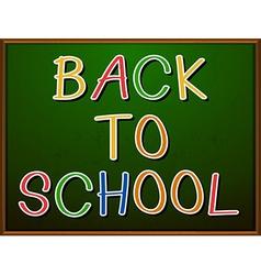 Back to school signboard vector