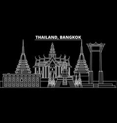 bangkok silhouette skyline thailand - bangkok vector image