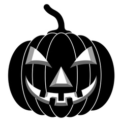 Black pumpkins for Halloween vector image vector image