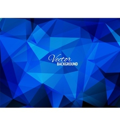 Blue business triangular background vector