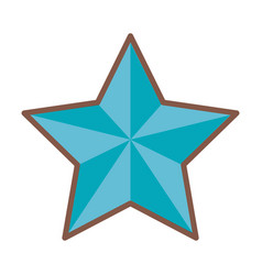 Blue star funny comic cartoon decoration icon vector