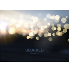 Blurred nature landscape with bokeh lights effect vector image