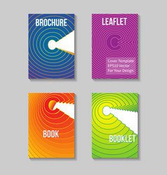 Book title page template business report cover vector