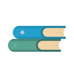 book two icon flat style vector image