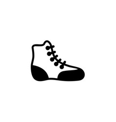 Boxing shoe wrestling boot flat icon vector