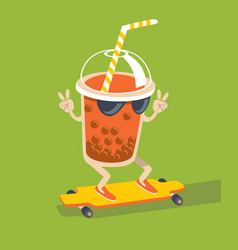 Bubble tea character vector