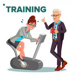 business training concept business woman vector image